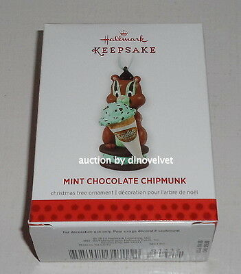 Mint Chocolate Chipmunk Hallmark Keepsake Christmas Ornament 2013 New In Box !