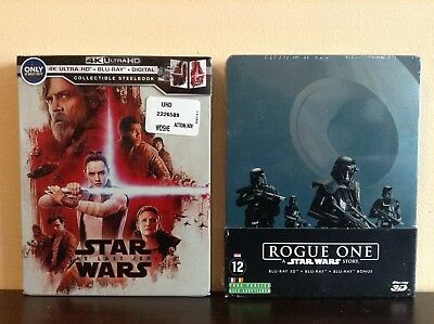 Star Wars:The Last Jedi + Rogue one:a star wars story - 2 ltd edition steelbook