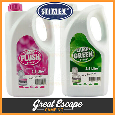 Stimex Camp Green and Camp Flush Combo 2.5L. Waste and Fresh Water Toilet Tank
