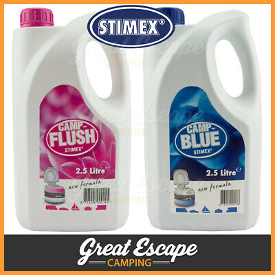 Stimex Camp Blue and Camp Flush Combo 2.5L. Waste and Fresh Water Toilet Tank