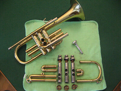 Conn Director Cornet with Case and Conn Mouthpiece, Refurbished and Ready to Go!
