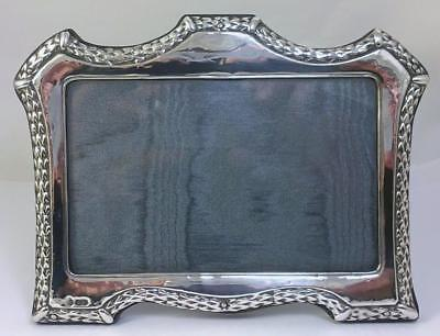 Vintage hallmarked Sterling Silver Fronted 18 ½ cm x 14cm Photo Frame – 1988