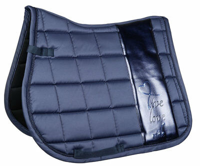 Saddle cloth -Metallic Blue Dressage Pad - Full