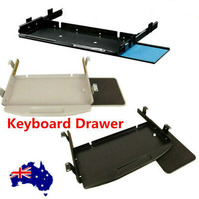 Underdesk Keyboard Drawer Steel Mouse Tray Under Desk Slider Runner AU Stock