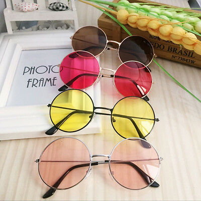 Women Fashion Retro Round Plastic Glasses Lens Sunglasses Eyewear Frame Glasses