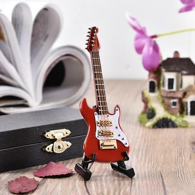 Mini Electric Guitar Miniature Wooden Musical Instruments Model Decoration Gift