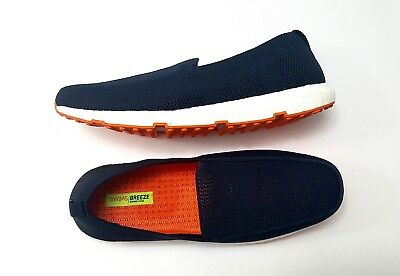69ca364d89e NEW SWIMS BREEZE Leap Knit Loafers Mens Size 8 Navy   Orange  160 ...