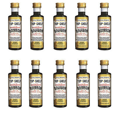 10 x Still Spirits Top Shelf Kentucky Bourbon Home Brew Essence