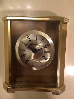 Benchmark Vintage Brass Clock Made in West Germany Quartz Movement