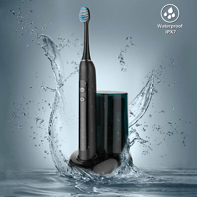 Electric Toothbrush Oral Care Teeth Brushes Wireless Rechargeable 2 Brush Head