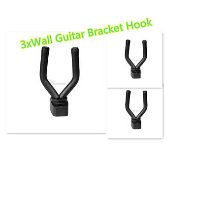 3Pcs Wall Mount Hanger Electric Bass Acoustic Guitar Bracket Holder Hook Stand