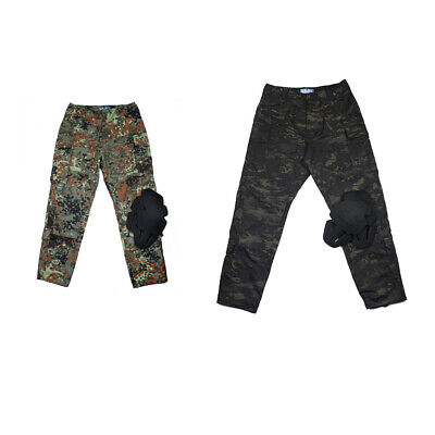 Men 3G Military Airsoft Combat Tactical Field Pants Camping Trousers+Knee Pad
