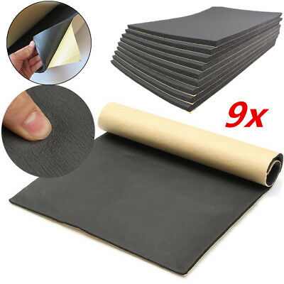 9x 6mm Car Sound Proofing Deadener Sheets Mat Fire Wall Acoustic Dampening Foam