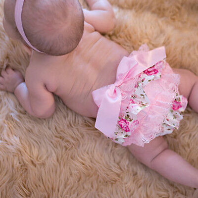Infant Baby Infant Girl Lace Ruffle Bloomer Nappy Underwear Panty Diaper Cover