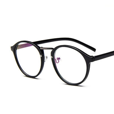 Retro Round Optical Eyeglass Frame RX Men Womens Clear lens Spectacles Eyewear