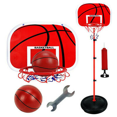 Portable Adjustable Height Junior Kids Basketball Stand System Net Ring Hoop Set