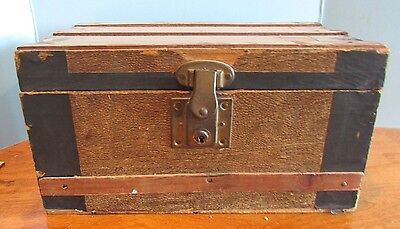 Vintage Salesman Sample Trunk Childs Doll Toy Size Wood 13x7""