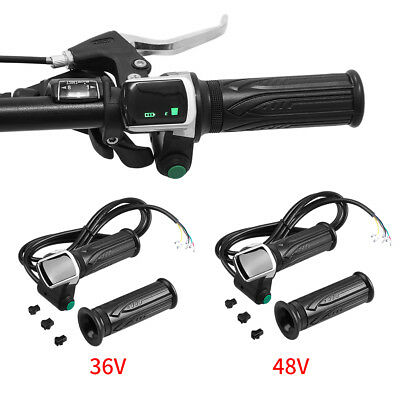 36V 48V Electric Bike EBike Throttle Grips Handlebar With LCD Display Meter SG