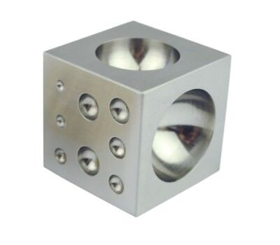 """2"""" Solid Steel Doming Dapping Block, 18 Depressions from 3mm - 40mm. J1504"""
