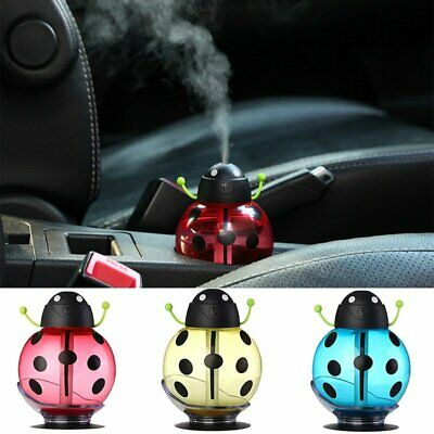 Mini Cute USB Beatles Shape Aroma LED Humidifier Air Diffuser Purifier Mist Gift