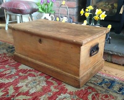 Beautiful Antique Pine Chest Trunk