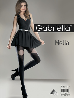 GABRIELLA Calze Lux Luxury Super Fine Sheer Decorative Hold Ups With Lycra