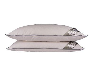 2 x DUCK FEATHER DOWN Pillows Extra Fluffy Anti Allergy Medium Support 15% DOWN