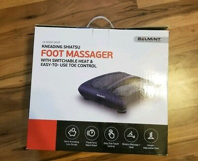 18-Node Deep-Kneading Shiatsu Foot Massager with Easy-to- Use  Toe Control