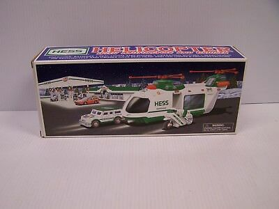 2001 Holiday Hess Helicopter with Motorcycle & Cruiser  **FREE S&H**
