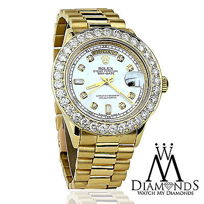 Rolex 36mm Day Date Presidential with Custom Diamond Dial & Bezel Watch