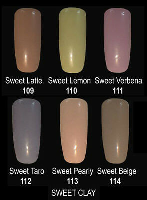 Organic Nails Color SWEET CLAY Color Group Set