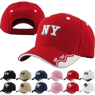 Kids Size NY New York Baseball Cap Adjustable Dad Hat Junior Youth