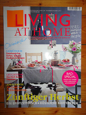 living at home zeitschrift ausgabe 11 09 w rmer glanz im haus herbstgarten eur 1 00. Black Bedroom Furniture Sets. Home Design Ideas
