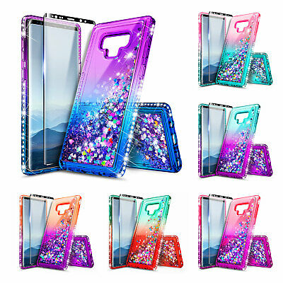 For Samsung Galaxy Note 9 Case [Glitter Liquid] Gradient Bling Protective Cover