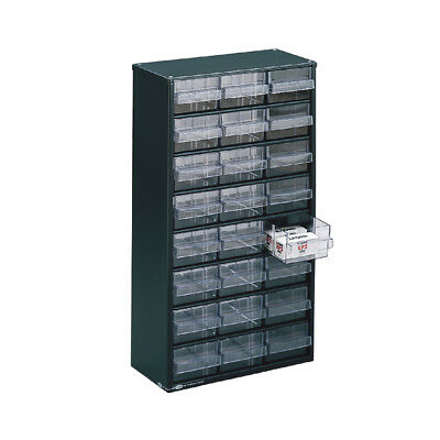 Storage Cabinet Clear 24 Drawer System Dark Grey 324124