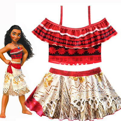 New Girls Toddlers Moana Swimsuit Swimwear 2pc Set Bathing suit Bikini 2-10 O74