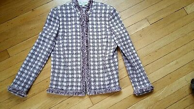 ST. JOHN  collection by Marie Gray JACKET size 10 powder pink check $1185