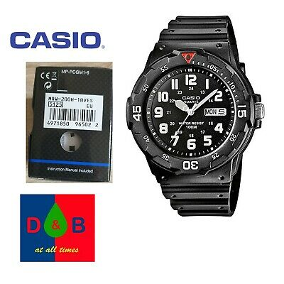 Casio Men's Sports Analogue Day Date Watch MRW-200H-1BVEF Black Resin Strap DEAL