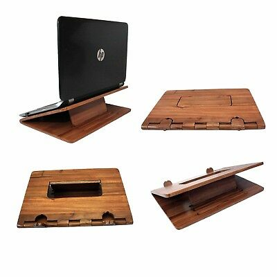 Adjule Folding Laptop Computer Office Table Desk Stand Tray Wooden Handmade