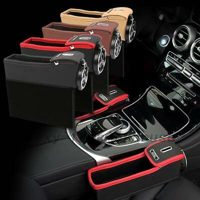 Top Leather Car Side Console Coin Card Organizer Cup Holder Seat Catcher AU