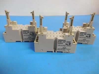 Omron P7S-14F-END Relay Base Socket Lot of 3