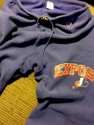 Team Issued vintage champion gusset sweatpants 70's mlb Montreal expos vtg USA