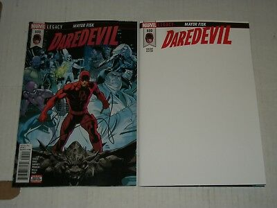 Marvel DAREDEVIL #600 Regular Cover and Blank Cover Variant Set NM/M