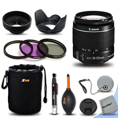 Canon EF-S 18-55mm f/3.5-5.6 IS II Autofocus Lens + Kit for Canon DSLR Cameras