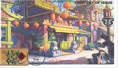 Jvc Cachets-2018 Lunar Year Of The Dog First Day Cover Fdc Chinese New Year #3