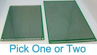 1/2 Double Sided PCB Proto Perf Board Through Plated 8x12 9x15 USA Comb Ship