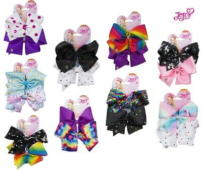 JoJo Siwa Large Bows Dancer Hair Bow Accessory Girls Party Fun - Set of 2 [NEW]