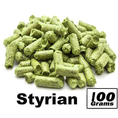 100g Styrian Golding Hop Pellets Hops Alpha Acid 4.5-6.0% Home Brew  FP