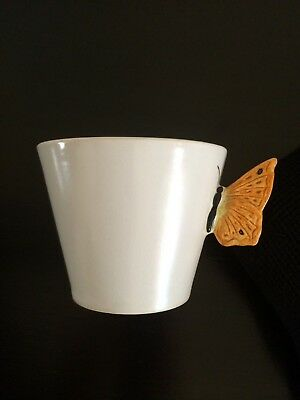 Antique Vintage china SylvaC BUTTERFLY SUGAR BOWL WHITE BUTTERFLY and JUG