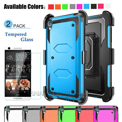 For HTC Desire 530 555 Case Belt Clip Holster Shockproof Armor Hard Phone Cover
